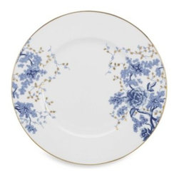 Lenox - Lenox Garden Grove 10 3/4-Inch Dinner Plate - Bone china will be a beautiful addition to any meal with its toile style pattern. Each piece features floral clusters in a rich cobalt blue accented with gold leaves.