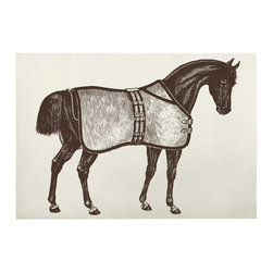 Thomas Paul - Thoroughbred Bath Mat - Bold and graphic; these are words often used to describe crazy uncles and women's fashion, but they are also the perfect words to describe the textile collection of design industry darling Thomas Paul. His prints are the perfect addition to any space needing a splash of character.