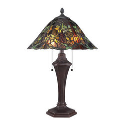 "Quoizel - Quoizel TF1561T Tiffany 16"" Height 2 Light Table Lamp - Specifications:"