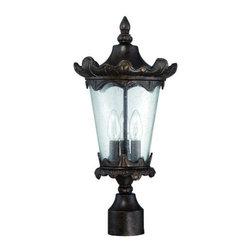 Craftmade - Craftmade Z7425 Kingston 3 Light Outdoor Post Light - Features: