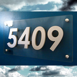 Address Plaques - Custom Modern Floating House Numbers in Aluminum & Polycarbonate