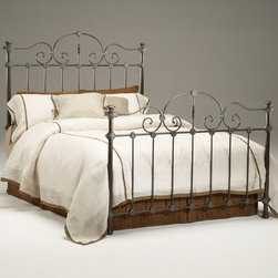 "Bernards - Tierra Verdi Headboard - King - One of our best selling king size headboards is a reflection of its pure elegance features detailed scroll work. Purchase 2 headboards to make a complete bed. Bed frame sold separately.; Dimensions:79""W x 64""H"