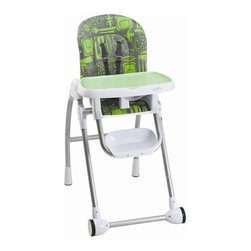 Evenflo - Modern High Chair - Features: -High chair.-Washable - Dishwasher safe removable tray insert.-Easy - Smooth surfaces easily wipe clean.-Adjusts - Fully adjustable to ensure a comfortable fit during feeding.-Handy - Tray can be stored on back of chair when not in use.-Convenient - Tray removes easily with one hand.-Integrated 5point harness hold child in place.-Comfortable, machine washable seat pad equals comfort for baby and less stress for mom.-Distressed: No.Dimensions: -Dimensions: 41.5'' H x 21.38'' W x 30.75'' D.-Overall Product Weight: 22 lbs.