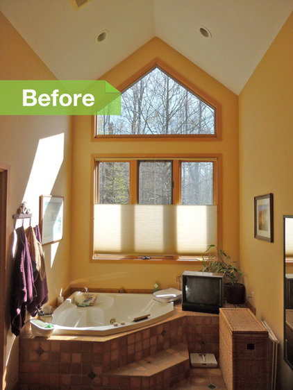 Before and After: Dated Master Bath Gets Minimalist Makeover