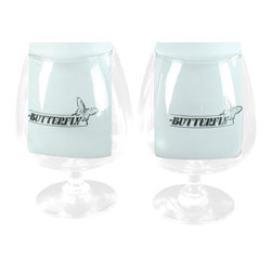 Butterfly - Consigned Vintage Pair Belgian Butterfly Beer Glasses - Product Details