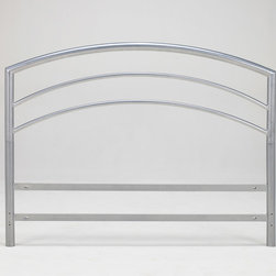 None - Arch Flex DB Full-size Silver Metal Headboard - This contemporary full-sized metal headboard creates a modern look in your bedroom. The headboard features an attractive brushed-silver finish and sturdy welded-steel construction,and it includes bolts for attaching it to a standard bed frame.
