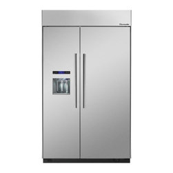 Thermador - 48 inch Built-In Side-by-Side T48BD810NS - We put convenience first when we designed our side-by-side refrigerators. With fully-adjustable glass shelves and easy electronic control, all of our side-by-sides can be ordered with an optional ice and water dispenser.