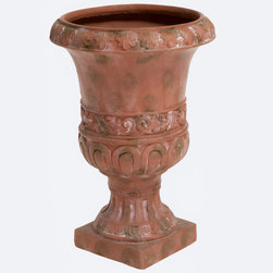 Christopher Knight Home - Christopher Knight Home Antique Green Turkish 26-inch Urn Planter - With the 26-inch Antique green Turkish urn planter you have versatility for indoor or outdoor use while still maintaining the classic style of your urn planter.