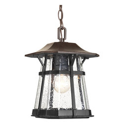"Progress Lighting - Progress Lighting P5579-84 One-Light 8.5"" Hanging Lantern With Clear Seeded Glas - One-light Hanging Lantern (8.5"")"