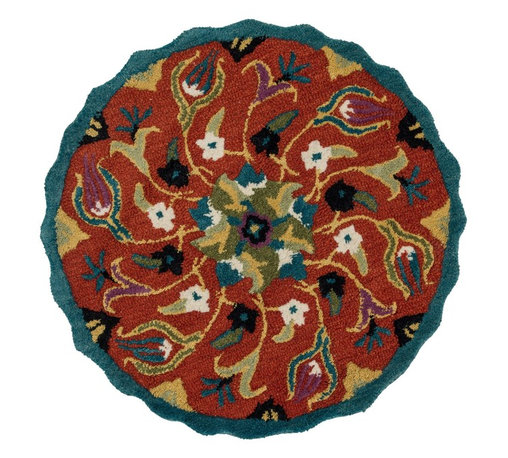 """Loloi Rugs - Loloi Rugs Azalea Collection - Coral, 3'-0"""" x 3'-0"""" Round - The Azalea Collection celebrates desirable round rugs in the most updated colors and patterns for today's fashionable interiors. Available in a broad range of styles, Azalea has a distinctive look that is achieved by its meticulously hand-tufted, wool construction. Made in India, the cut-and-loop textured rounds come in a varied palette that includes spring and fall hues, brights and everyday, familiar tones, too. These fresh rounds will add a dramatic wow-factor to any interior."""