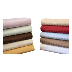Bedding Web Store - 650TC Stripe Pillowsham Set-Egyptian Cotton, Beige, Standard - These 650 Thread Count premium long-staple 100% Egyptian cotton pillow shams will provide you with a great night of sleep.  They provide a very affordable luxury that will be a beautiful addition to your bedroom.  This pillowcase set is Sateen because they are woven to a special sheen that looks like satin.  This set is available in eight colors: Beige, Gold, Ivory, Light Blue, Lavender, Mint, Taupe and White.  They are available in standard and king sizes.  This set includes two pillowcases.