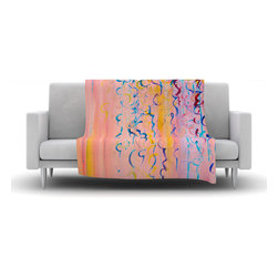 "Kess InHouse - Ebi Emporium ""Cotton Candy Whispers"" Fleece Blanket (90"" x 90"") - Now you can be warm AND cool, which isn't possible with a snuggie. This completely custom and one-of-a-kind Kess InHouse Fleece Throw Blanket is the perfect accent to your couch! This fleece will add so much flare draped on your sofa or draped on you. Also this fleece actually loves being washed, as it's machine washable with no image fading."