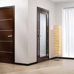Mia Wenge Interior Door - Modern Interior Doors / Contemporary Interior Doors