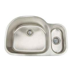 Artisan Manufacturing - Artisan 16-Gauge 31-1/2 x 20-3/4 70/30 Sink - AR3121-D95 Artisan Manufacturing Premium D-bowl Undermount 16 Gauge Kitchen Sink