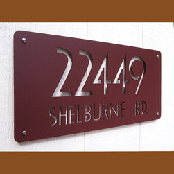 """CUSTOM Euro Deluxe Address Sign in Powder Coated Aluminum - The Euro Style Deluxe Address Sign 18"""" X 9"""""""