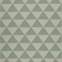 "Laguna LG-11 Mint Rug - 3'6""x5'6"" - Geometric patterns, vibrant colors and chic simplicity all collaborate to make the flat-weave Dhurry collection, Laguna. Made in India of 100% wool, Laguna utilizes a vibrant color palette that plays off geometric patterns often found in paving stones, basket weaves and nature."