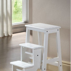 Boraam - Boraam Step Stool - 24 in. - White - 36324 - Shop for Stepstool from Hayneedle.com! The Boraam Step Stool - 24 in. White offers stylish functionality to any setting. This handy stool features a fold out set of steps that lets you get a few extra inches when you need it. Its durable construction of a blend of rubber wood and engineered wood offers lasting durability. A crisp white finish adds a clean look to any room.About Boraam IndustriesThis product is manufactured by Boraam Industries. With many years of experience in the furniture industry Boraam is committed to providing well-styled top-quality home furnishings and furniture at reasonable prices. Based in Mundelein Ill. Boraam has its own tropical hardwood production facilities in and outside the USA.