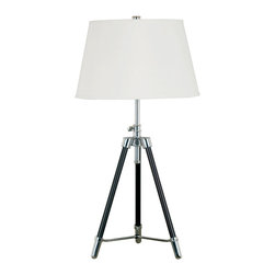 Kenroy - Kenroy 21520ORB Surveyor Table Lamp - Style stands on its own 3 feet with this sharp tripod.  Bronze and chrome bring that studio look to a loft or office.  Cool and versatile, Surveyor has an adjustable height.