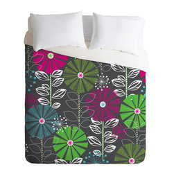 DENY Designs - Khristian A Howell Cape Town Blooms Duvet Cover - Turn your basic, boring down comforter into the super stylish focal point of your bedroom. Our Luxe Duvet is made from a heavy-weight luxurious woven polyester with a 50% cotton/50% polyester cream bottom. It also includes a hidden zipper with interior corner ties to secure your comforter. it's comfy, fade-resistant, and custom printed for each and every customer.