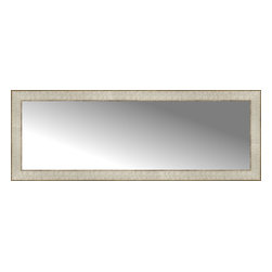 """Posters 2 Prints, LLC - 44"""" x 16"""" Libretto Antique Silver Custom Framed Mirror - 44"""" x 16"""" Custom Framed Mirror made by Posters 2 Prints. Standard glass with unrivaled selection of crafted mirror frames.  Protected with category II safety backing to keep glass fragments together should the mirror be accidentally broken.  Safe arrival guaranteed.  Made in the United States of America"""