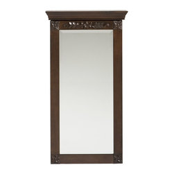 Holly & Martin - Holly & Martin Vivienne Wall-Mount Jewelry Armoire-Espresso - Stop digging through a cluttered jewelry box and get organized with this lovely wall mount jewelry armoire. A rich espresso finish accentuates the character of the traditional styling. Decorative square floral appliques on each corner are mirrored with another carved applique that stretches across the top. Black felt and an assortment of jewelry storage options line the inside. The door has a keyed lock on the right side to secure your valuables. Perfect for bedroom, bathroom, walk-in closet, or entryway, this jewelry armoire will be a beautiful addition to your home.