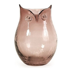 IMAX CORPORATION - Ambra Small Glass Owl Vase - This unique glass owl vase would make an excellent gift idea and a perfect addition to any collection. Find home furnishings, decor, and accessories from Posh Urban Furnishings. Beautiful, stylish furniture and decor that will brighten your home instantly. Shop modern, traditional, vintage, and world designs.