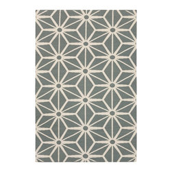 Surya Fallon Rug in Iron Ore/White - Delicate, sophisticated lattice pattern rugs with colors specifically chosen to coordinate with today's home furnishing trends. The creator Jill Rosenwald is the top designer known for beautifully colored, hand-made ceramics. The Fallon's pattern and the hand woven flat weave construction beautifully combine to highlight its simplicity and sophistication. Price varies by size from $65.40 to $762.60.