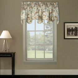 A.l. Ellis Inc. - Valerie Lined Scallop Valance - This beautiful valance features a medium-scale Jacobean floral print. It will quickly liven up any window and add a stylish touch to any room. The scalloped bottom features a self-corded edge.