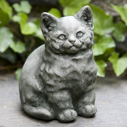 Campania International - Campania International Kitty Cast Stone Garden Statue - A-351-AL - Shop for Statues and Sculptures from Hayneedle.com! About Campania InternationalEstablished in 1984 Campania International's reputation has been built on quality original products and service. Originally selling terra cotta planters Campania soon began to research and develop the design and manufacture of cast stone garden planters and ornaments. Campania is also an importer and wholesaler of garden products including polyethylene terra cotta glazed pottery cast iron and fiberglass planters as well as classic garden structures fountains and cast resin statuary.Campania Cast Stone: The ProcessThe creation of Campania's cast stone pieces begins and ends by hand. From the creation of an original design making of a mold pouring the cast stone application of the patina to the final packing of an order the process is both technical and artistic. As many as 30 pairs of hands are involved in the creation of each Campania piece in a labor intensive 15 step process.The process begins either with the creation of an original copyrighted design by Campania's artisans or an antique original. Antique originals will often require some restoration work which is also done in-house by expert craftsmen. Campania's mold making department will then begin a multi-step process to create a production mold which will properly replicate the detail and texture of the original piece. Depending on its size and complexity a mold can take as long as three months to complete. Campania creates in excess of 700 molds per year.After a mold is completed it is moved to the production area where a team individually hand pours the liquid cast stone mixture into the mold and employs special techniques to remove air bubbles. Campania carefully monitors the PSI of every piece. PSI (pounds per square inch) measures the strength of every piece to ensure durability. The PSI of Campania pieces is currently engineered at a