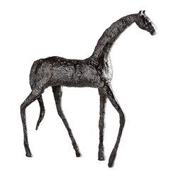 Cyan Design - Cyan Design Lighting - 00433 Walking Horse Sculpture - Cyan Design 00433 Walking Horse Sculpture