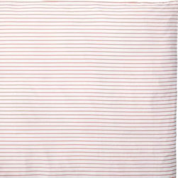 Serena & Lily - Percy Stripe Duvet Cover Coral - Our cheerful pinstripes easily layer with patterns or solids. Printed on pure white, the perfectly spaced lines run horizontally across  the front and back.