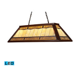 Elk Lighting - Landmark Lighting Tiffany Game Room Lighting 70112-4-LED 4-Light Billiard/Island - 70112-4-LED 4-Light Billiard/Island Light in Dark Mahogany Wood - LED - 800 Lumens belongs to Filigree Collection by Landmark Lighting Making A Grand Statement The Filigree Series Offers Lacey Ornamental Openwork Composed Of Intertwined Wire Threads Of Brass. Each Panel Is Hand-Soldered Over The Glass Panel To Add Dimensional Beauty To Each Shade. The Hardware Is Finished In A Classic Aged Bronze (Ab) To Complete The Majestic Presentation. - LED, 800 Lumens (3200 Lumens Total) With Full Scale Dimming Range, 60 Watt (240 Watt Total)Equivalent , 120V Replaceable LED Bulb Included Island Light (1)
