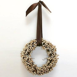 Are Naturals - Featuring tallow berries on a twig base, this wreath hangs beautifully from a brown ribbon, and can be used as a stunning display any time of the year.