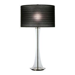 Robert Abbey - Robert Abbey Kate Table Lamp 3350B - Black Pleated Organza Shade