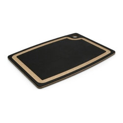 "Epicurean - Epicurean Gourmet Series 15"" x 11"" Cutting Board - Slate/Natural - Release your inner gourmet with Epicurean® Gourmet Cutting Boards. The slightly thicker profile and heavier weight of these boards will give you confidence to cut and chop with gusto. They feature a juice groove on one side to keep things tidy and a flat food prep surface on the other - perfect for your most challenging recipes or more common fare. Bon appetit!"