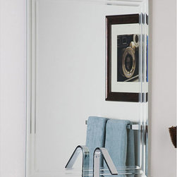 None - Frameless Tri-bevel Wall Mirror - Add a new dimension to your space with this frameless wall mirror with a triple bevel detail along its edge. This mirror is ideal for any space in your home but is particularly suited for a bathroom environment, letting you style yourself with ease.