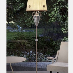 """6020/6025 STL1 Floor Lamp - The 6020/6025 STL1 Floor Lamp is part of a collection of High End light fixtures designed by Studio Stile Masiero in Italy for Masiero. This floor lamp is a beautiful and harmonious piece that brings to classicism and modernism a new perspective. 6020/6025 STL1 floor lamp is an elegant light fixture consisting of a long rod with an oval bowl made of glass in the upper side enriched with brass fusion decorations in burnished or polished gold finish. One delicate ivory Pongè lampshades that sits on top of the stand provides a diffused light. This is a stylish and contemporary floor lamp that will light up any environment. Illumination is provided by E27 100W Incandescent bulb (not included).     .proddesc p{font-family: Verdana, sans-serif; font-size:8pt!important;}   .pdtable{font-family: Verdana, sans-serif; font-size:8pt!important;padding:10px;} Product Details: The 6020/6025 STL1 Floor Lamp is part of a collection of High End light fixtures designed by Studio Stile Masiero  in Italy for Masiero. This floor lamp is a beautiful and harmonious piece that brings to classicism and modernism a new perspective. 6020/6025 STL1 floor lamp is an elegant light fixture   consisting of a long rod with an oval bowl made of glass in the upper side enriched with brass fusion decorations in burnished or polished gold finish. One delicate    ivory Pongè lampshades that sits on top of the stand provides a diffused light.   This is a stylish and contemporary floor lamp that will light up any environment. Illumination  is provided by  E27 100W Incandescent    bulb (not included). Details:                         Manufacturer:            Masiero                            Designer:            Studio Stile Masiero                            Made in:            Italy                            Dimensions:                        Height: 70.9""""(180cm) X Diameter: 15.7""""(40cm)                                         Light bulb:                        E27, 1x100W In"""