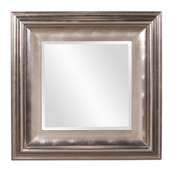 Frontgate - Christian Mirror - Hardwood frame. Bright silver finish. Arrives ready to hang with pre-installed D-rings. Wipe clean with a soft cloth. Our stunning Christian mirror is a modern piece featuring a bright silver finish. Simple and elegant, this square mirror instantly adds glamour and radiance to any decor.  .  .  .  .