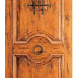 """Single Door, Exterior, Knotty Alder 2 Panel, Speakeasy, Door Knob - SKU#SW-81_1BrandAAWDoor TypeExteriorManufacturer CollectionWestern-Santa Fe Entry DoorsDoor ModelDoor MaterialWoodWoodgrainKnotty AlderVeneerPrice930Door Size Options30"""" x 80"""" (2'-6"""" x 6'-8"""")  $032"""" x 80"""" (2'-8"""" x 6'-8"""")  $036"""" x 80"""" (3'-0"""" x 6'-8"""")  +$1042"""" x 80"""" (3'-6"""" x 6'-8"""")  +$11036"""" x 84"""" (3'-0"""" x 7'-0"""")  +$10030"""" x 96"""" (2'-6"""" x 8'-0"""")  +$25032"""" x 96"""" (2'-8"""" x 8'-0"""")  +$25036"""" x 96"""" (3'-0"""" x 8'-0"""")  +$26042"""" x 96"""" (3'-6"""" x 8'-0"""")  +$460Core TypeSolidDoor StyleRusticDoor Lite StyleDoor Panel Style2 PanelHome Style MatchingSouthwest , Log , Pueblo , WesternDoor ConstructionTrue Stile and RailPrehanging OptionsPrehung , SlabPrehung ConfigurationSingle DoorDoor Thickness (Inches)1.75Glass Thickness (Inches)Glass TypeGlass CamingGlass FeaturesGlass StyleGlass TextureGlass ObscurityDoor FeaturesDoor ApprovalsDoor FinishesDoor AccessoriesSpeakeasy , Door KnobWeight (lbs)340Crating Size25"""" (w)x 108"""" (l)x 52"""" (h)Lead TimeSlab Doors: 7 daysPrehung:14 daysPrefinished, PreHung:21 daysWarranty1 Year Limited Manufacturer WarrantyHere you can download warranty PDF document."""