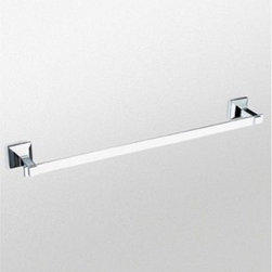 """Toto - TOTO® Lloyd™ 24"""" Towel Bar - The TOTO® Lloyd™ Towel Bar features a state-of-the-art plating process called LifeKoat™. The LifeKoat™ ionic plating procedure covers the entire fixture with a special finish that prevents corrosion, improves scratch resistance and increases hardness. Features & Specs Durable LifeKoat™ finishes (Nickel finishes only) Solid cast metal Mounting hardware for both drywall and tile included Lifetime Limited (Residential Use), One Year Commercial Use) View Spec Sheet"""