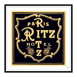 Studio Eight - Contemporary Modern Transitional Fine Art, RITZ HOTEL, PARIS, Black Leaf Framing - RITZ HOTEL, PARIS.