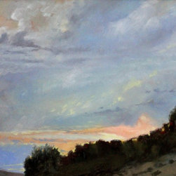 """""""Morning View""""  Oil Painting Art - Just the break in the Clouds you need to complement any interior.  This dramatic original painting was completed on location by artist Rebecca N King near Cumberland, Maryland in 2012.  A unique look at a new day.  You will love this painting today and for years to come.  Available unframed."""