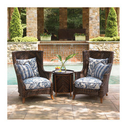 Patio + Outdoor - Resembling a throne, the Island Estate Lanai Wing Chair will make anyone who sits in it feel like royalty.