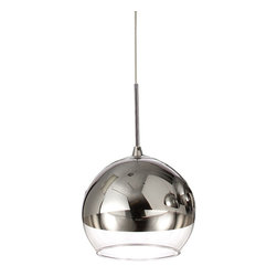 Dainolite - Dainolite 2101P-PC Single Pendant Polished Chrome Finish Low Voltage - Dainolite 2101P-PC Single Pendant Polished Chrome Finish Low Voltage