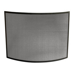 Uniflame - Uniflame S-1042 Single Panel Curved Black Wrought Iron Screen - Single Panel Curved Black Wrought Iron Screen belongs to Fireplace Accessories Collection by Uniflame