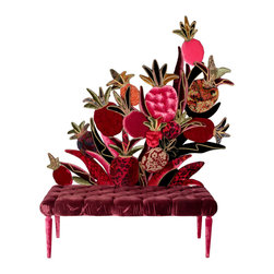 "Carla Tolomeo ""Panca Ananassa"" Silk Velvet Settee - How about a pineapple silk velvet settee for $48,000? Or maybe just sit back and admire it."