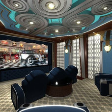 Contemporary Home Theater by Cinemations Home Theaters LLC