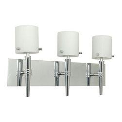 "Nuvo Lighting - Nuvo Lighting 60/1073 Three Light Reversible Lighting 21"" Wide Bathroom Fixture - *Three light reversible lighting bathroom fixture featuring white opal glass shades"