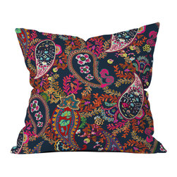 Rachelle Roberts Boho Paisley Navy Outdoor Throw Pillow - Do you hear that noise? It's your outdoor area begging for a facelift and what better way to turn up the chic than with our outdoor throw pillow collection? Made from water and mildew proof woven polyester, our indoor/outdoor throw pillow is the perfect way to add some vibrance and character to your boring outdoor furniture while giving the rain a run for its money.