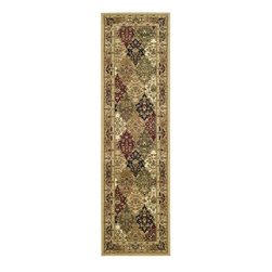 Safavieh - Lyndhurst Collection Multicolor/ Beige Runner (2'3 x 6') - Ideal for use in an entryway, this durable polypropylene area rug will help keep dirt and moisture from your floors. The multicolored design will add beauty to any room, and the long size makes it suitable for hallways and other high-traffic areas.